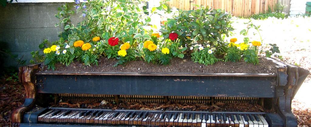 Ogród jako miejsce drugiego życia różnych przedmiotów